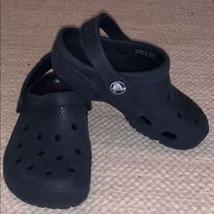 Crocs Kids size 10 Navy Blue